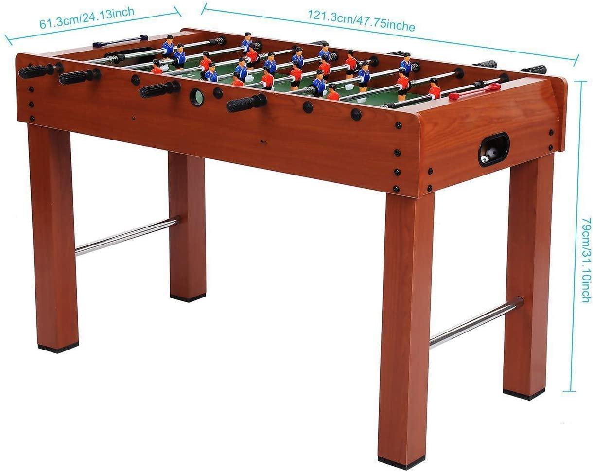 etuoji futbolín competencia 48 pulgadas interior fútbol Arcade Game Home Roma Sports juego de mesa para niños adultos de la familia (8 varillas de rotación, 2 pelotas), 1: Amazon.es: Deportes y aire libre