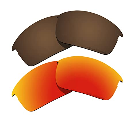 aeefa419078 Image Unavailable. Image not available for. Color  2 Pairs Polarized Lenses  Replacement Brown   Red for Oakley Bottle Rocket Sunglasses