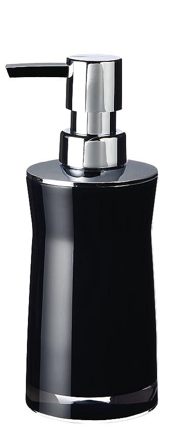Ridder dispensador de jabón Discoteca, acrílico, Negro, 6,5 x 6,