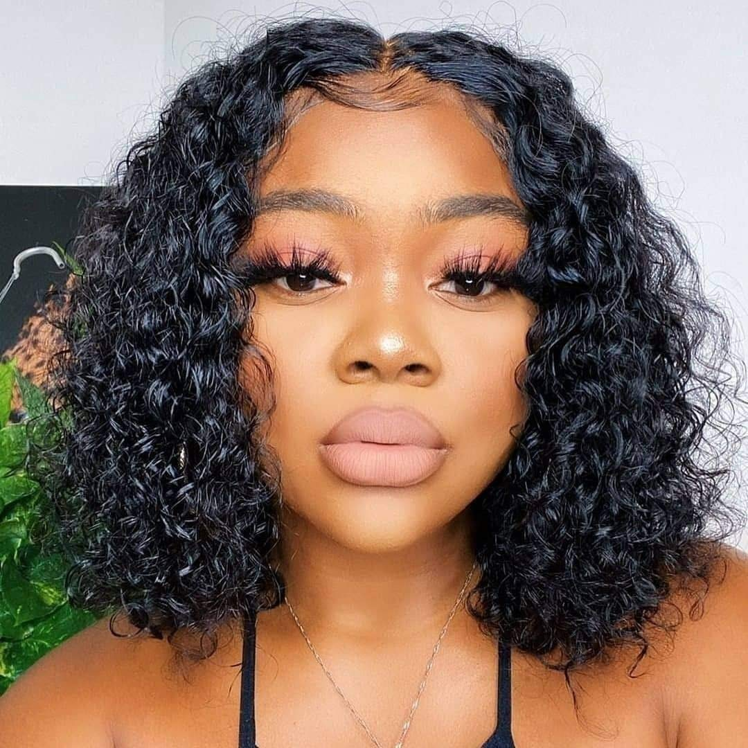 Lace Front Bob Wigs Human Hair Curly Wig 4x4 Short Bob Wigs Kinky Curly Lace Front Wigs Human Hair 9a Brazilian Remy Human Hair Bob Wigs For Black Women Pre Plucked 12 Inch Beauty Amazon Com