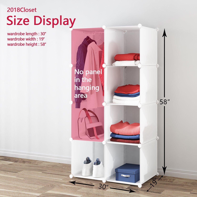 Portable Clothes Closet Wardrobe By Tespo Freestanding