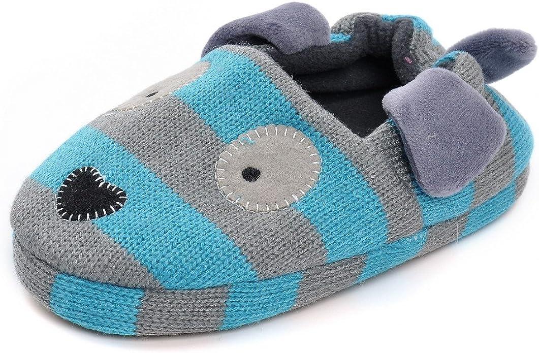QGAKAGO Toddler Boys Puppy Cotton Warm Winter Non-Slip House Slipper
