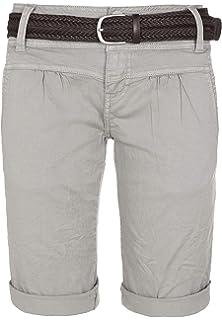040725fbe9 Fresh Made Pantalons d'été Bermudas pour Les Femmes | Pantalon Court Chino  avec Ceinture