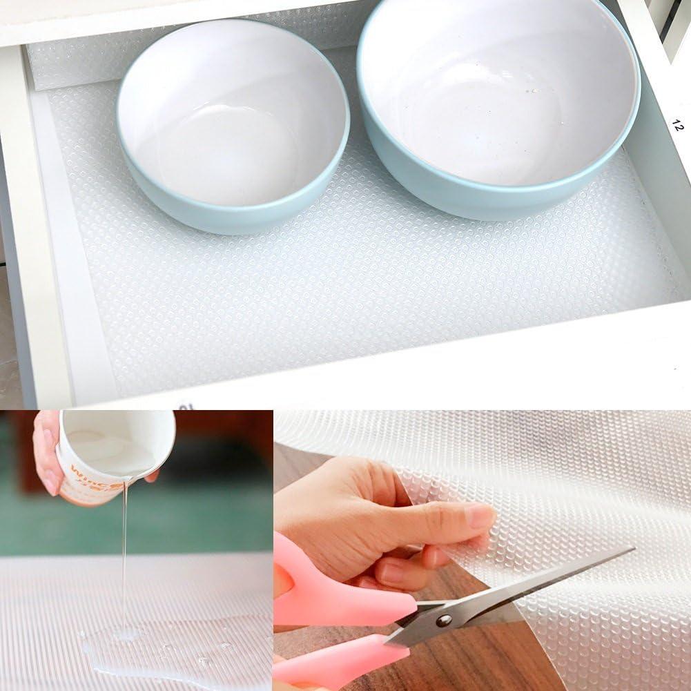 Yosoo Alfombrilla antideslizante para caj/ón goma EVA, no adhesiva, transparente, antideslizante, para el hogar, armario, estante, #2, 120*30cm