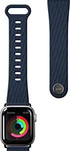 LAUT - Active 2.0 Sport Watch Strap for Apple Watch Series 1/2/3/4/5 | Anti-Bacterial Sport Polymer Material | Ergonomic fit & Easy Lock (42mm / 44mm • Indigo)