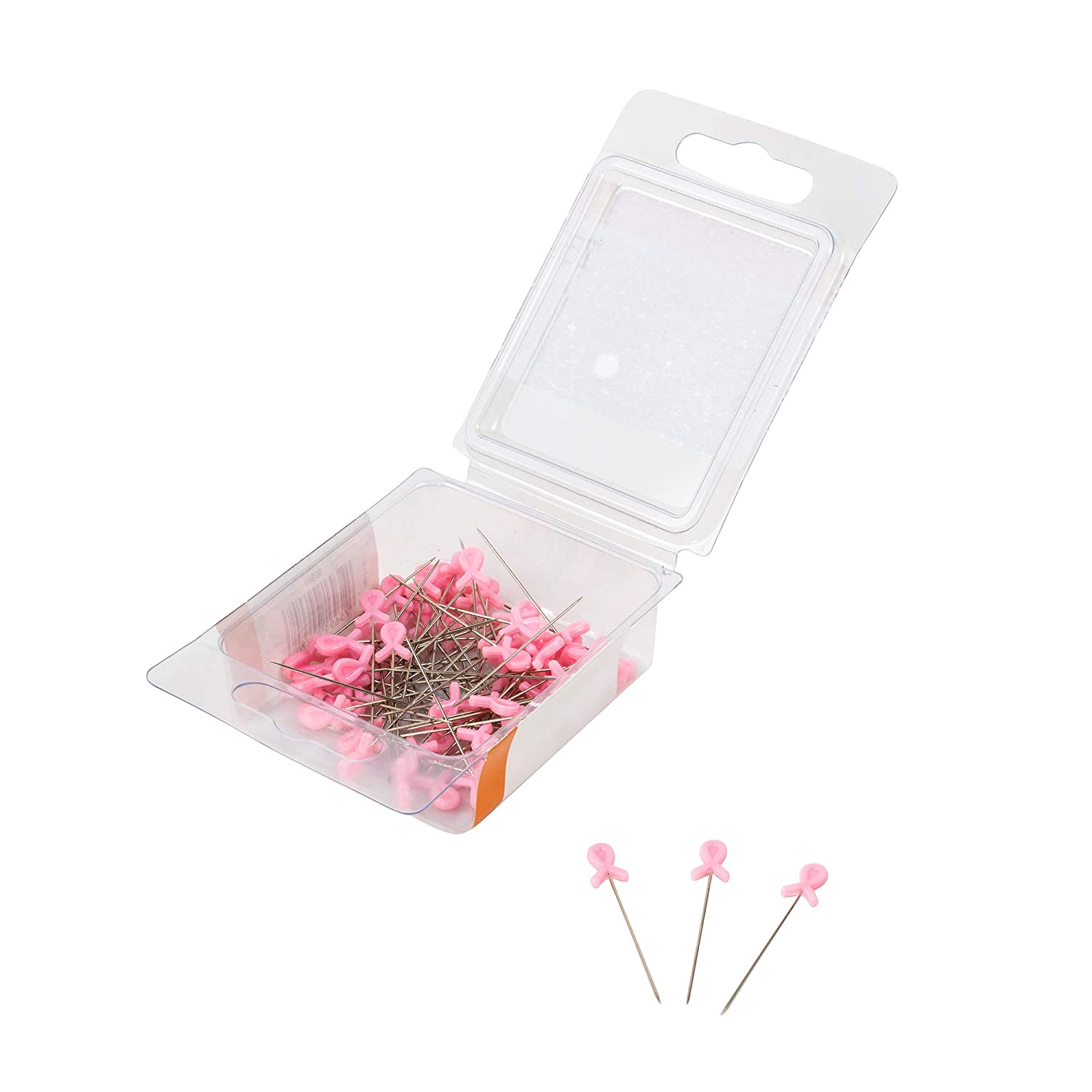 SINGER 00370 Breast Cancer Awareness Decorative Straight Pins 75-Count Size 24