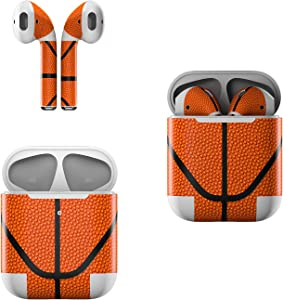 Skin Decals for Apple AirPods - Basketball - Sticker Wrap Fits 1st and 2nd Generation