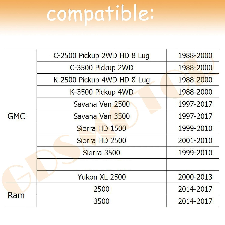 GMC Savana Sierra 2500 3500 HD Yukon XL 2500 SPCR-0049L-41 GDSMOTU 8 Lug Wheel Spacers 4pc 8x6.5 Wheel Spacers Adapters 1.5 with 14x1.5 Studs for Chevy Express Suburban Silverado 2500 3500 HD
