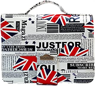 Bagabook, Union Jack Design Executive Collection, Book, Notepad, Bible Cover Carrier w Unique Hand Strap