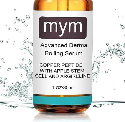 Serum de péptidos de cobre con células madre de manzana suiza y argirelina. Aumenta la producción de colágeno. Ideal Resultado Trabajo con Derma ...