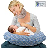 KRADYL KROFT 5-in-1 Baby Feeding Pillow with Detachable Cover (Blue)