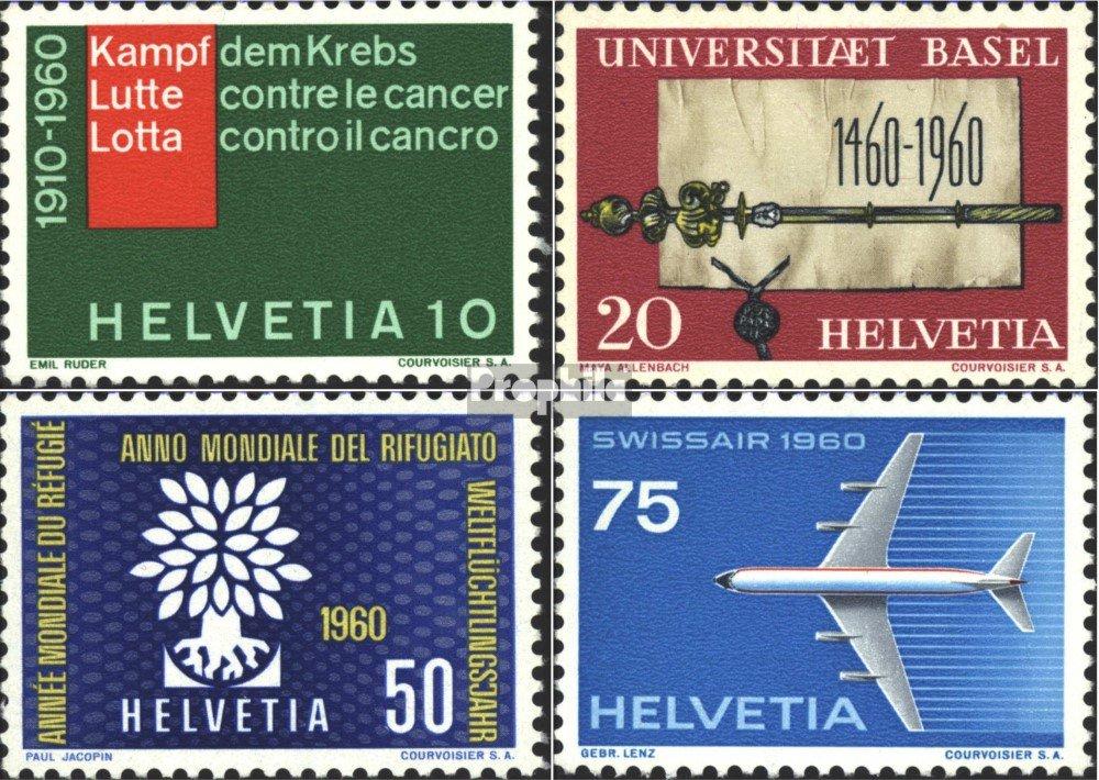 kompl.Ausgabe 1960 Jahresereignisse Luftfahrt Prophila Collection Schweiz 692-695 Briefmarken f/ür Sammler