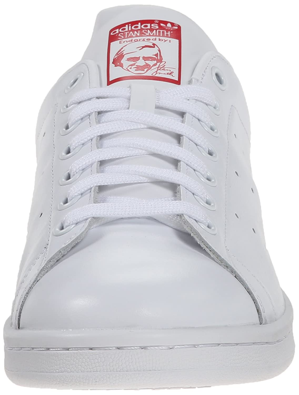 - Stan Smith Originals Unisexe Blanc 46 2//3 EU adidas Baskets Basses pour Adultes White//White//Collegiate Red