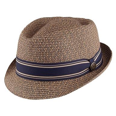 5c8df41388c5c Goorin Bros. Big Boy Kris Toyo Straw Trilby Hat - Tan MEDIUM  Amazon.co.uk   Clothing
