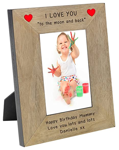 Personalised I Or We Love You To The Moon And Back Oak Veneer Wooden