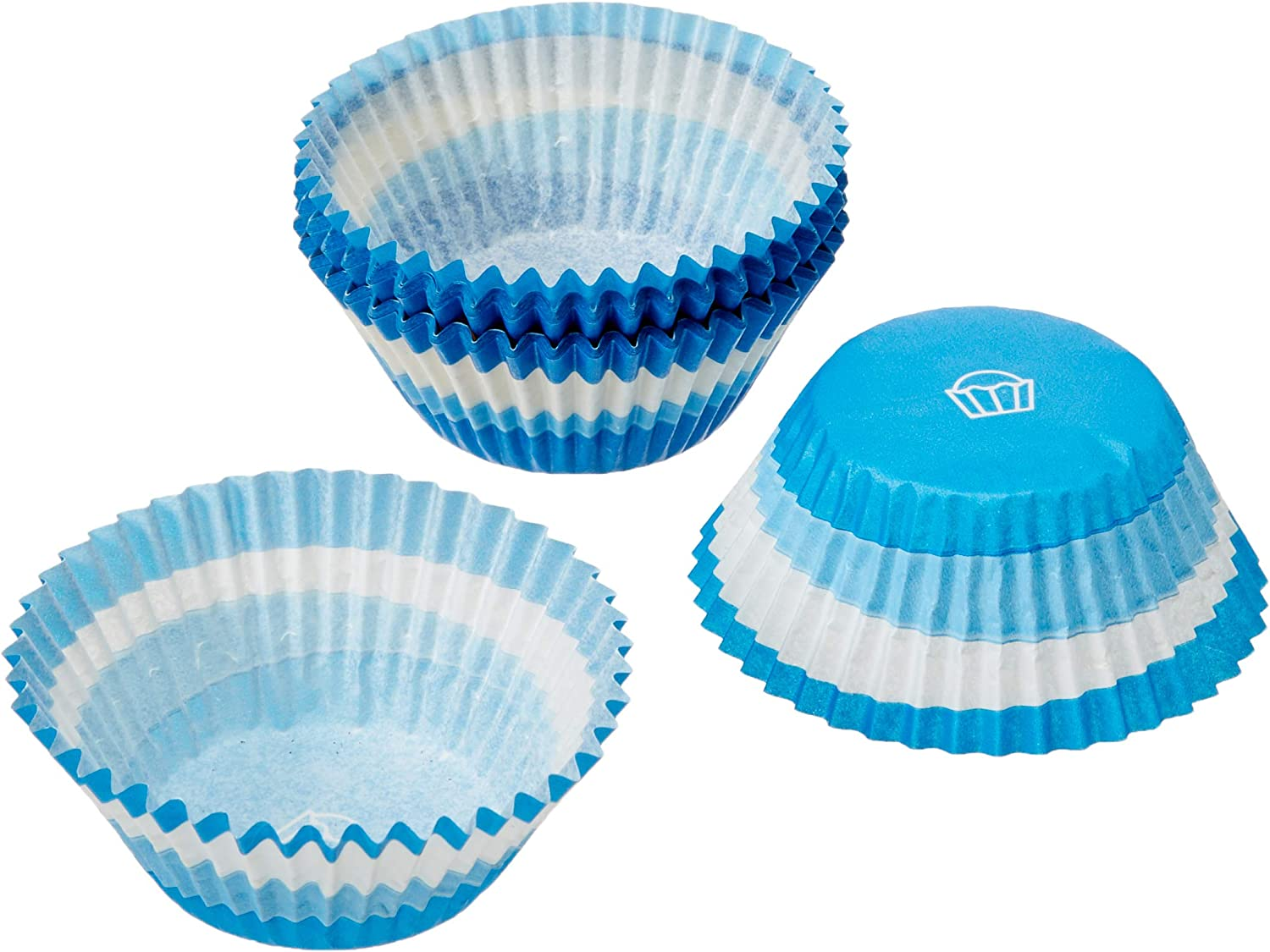 Oasis Supply Extra Thick 35 Count Baking Cups Blue//White VK99-35 Standard