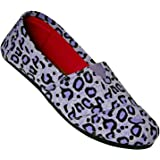 DAWGS Kaymann Women's Exotic Loafer Purple LEOPARD PRINT 5 M US