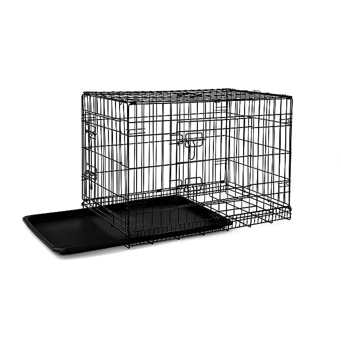 Dibea dc00490, Jaula de Transporte para Perros y Animales pequeños, Estable Caja de Alambre Negrita, Plegable: Amazon.es: Productos para mascotas