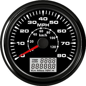 ELING - Velocímetro GPS para coche, motocicleta, barco, 0 – 80 mph,