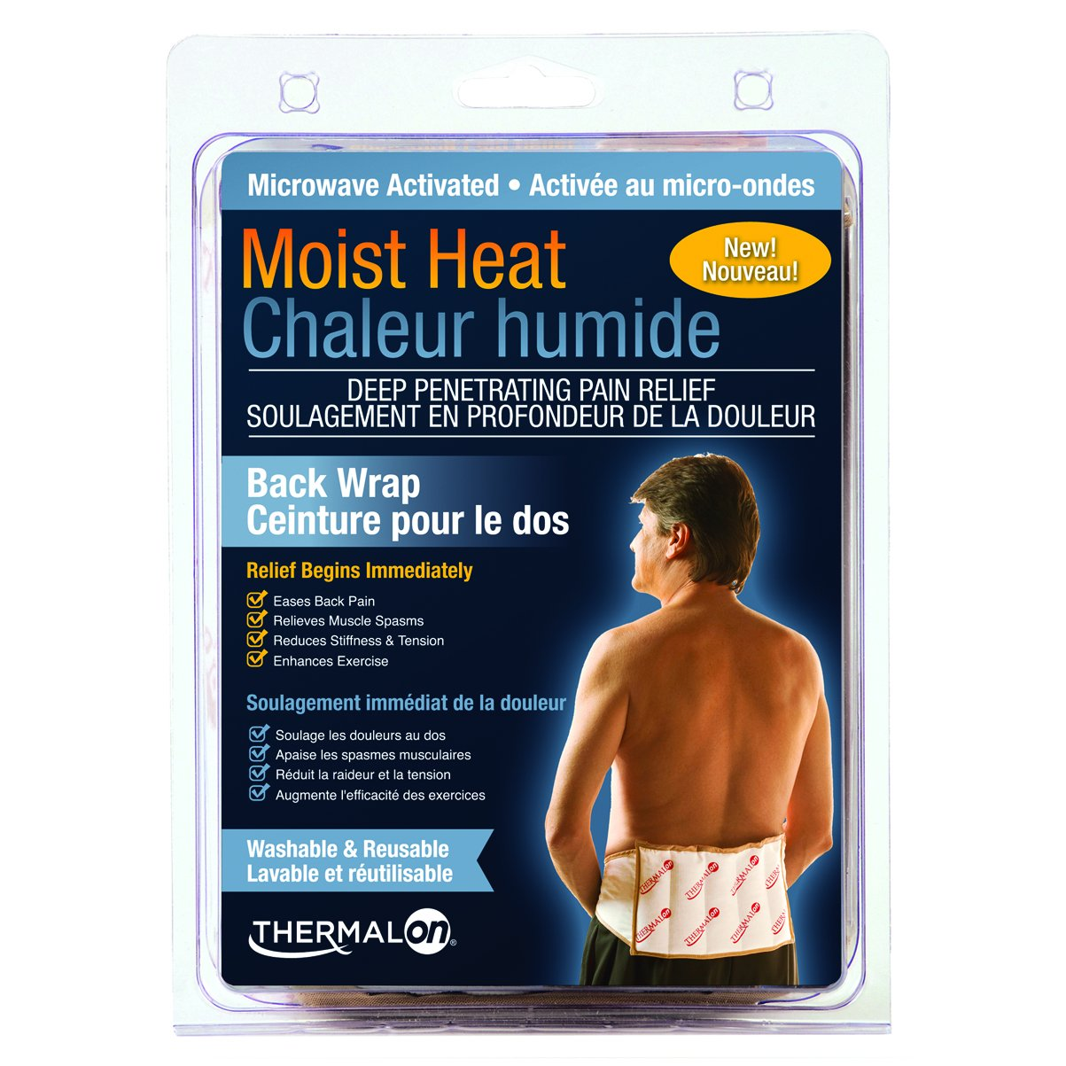 save off 1ebf0 85e73 Amazon.com  Thermalon Microwave Activated Moist Heat Therapy Wrap with Ties  for Back, Hip, Shoulder, 7