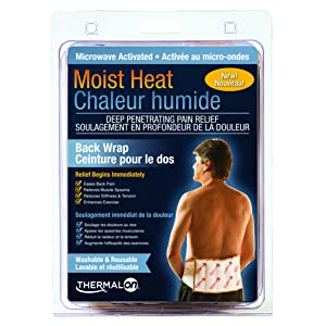 "Thermalon Microwave Activated Moist Heat Therapy Wrap with Ties for Back, Hip, Shoulder, 7"" x 12"""