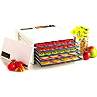 Excalibur EXD500W 5-Tray Electric Food Dehydrator with Adjustable Thermostat Accurate Temperature Control Faster and Efficient Drying Made in USA, 5-Tray, White (Discontinued by Manufacturer)