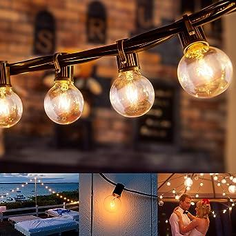 Guirlande Lumineuse Exterieur avec 25 G40 Ampoule Blanc Chaud, 7.62 ...