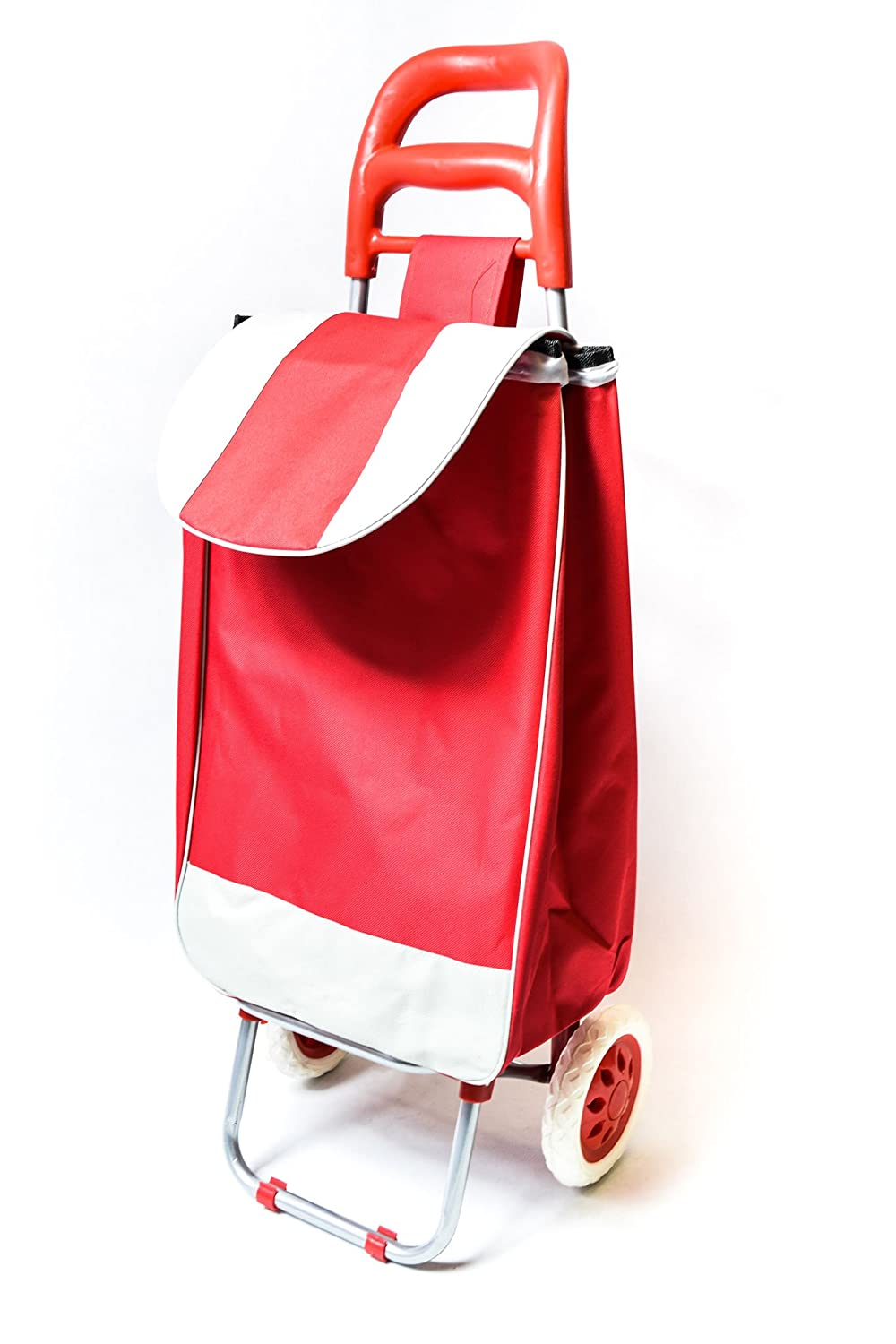 Shopping Trolley on Wheels Lightweight 2 Wheel Large Capacity Shopping Trolley Bag Aid Mobility with support bar and zipper pocket 94 x 34 x 30 cm Hot star Products