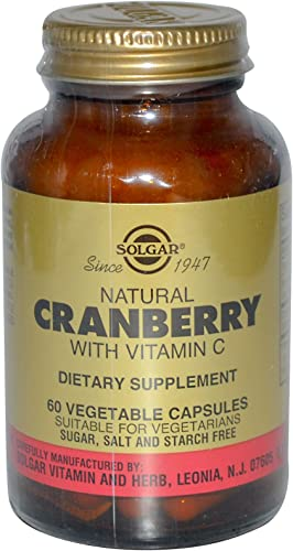 Solgar, Natural Cranberry, with Vitamin C, 60 Veggie Caps - 2pc