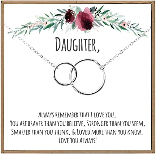 Personalize With Daughter/'s Name And Your Name To My Daughter Personalize Message Card Jewelry Daughter Gift From Dad or Mom For Wedding