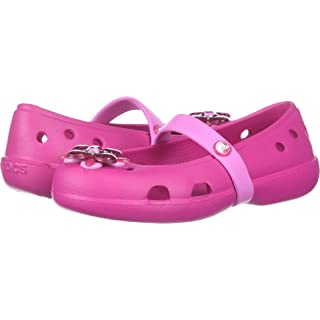 Crocs Girls' Keeley Springtime PS Mary Jane Flat, Candy Pink, 8 M US Toddler