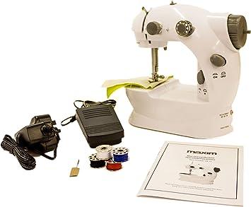 Mini Máquina de Coser Portátil + 4 x Carretes de Hilo + Pedal + ...