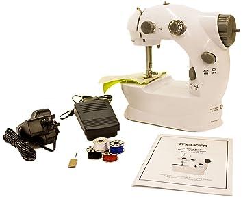 Mini Máquina de Coser Portátil + 4 x Carretes de Hilo + Pedal + Aguja +
