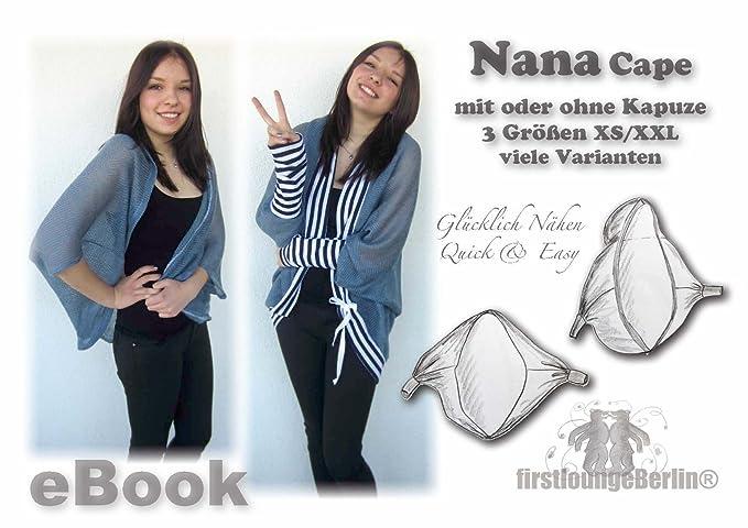 Nana Cape Nähanleitung mit Schnittmuster für Jacke, Umhang oder ...