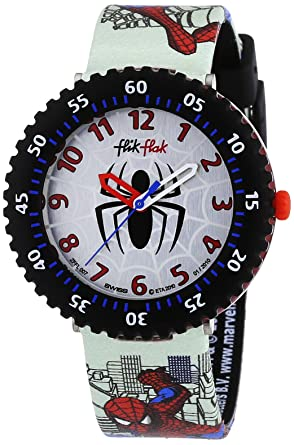 Armbanduhr kinder flik flak  Flik Flak Spiderman Kinder-Armbanduhr FFL007: Amazon.de: Uhren