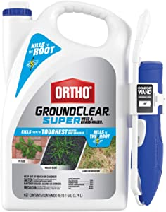 Ortho GroundClear Super Weed & Grass Killer1: with Comfort Wand, Kills to the Root, Fast-Acting, 1 gal.