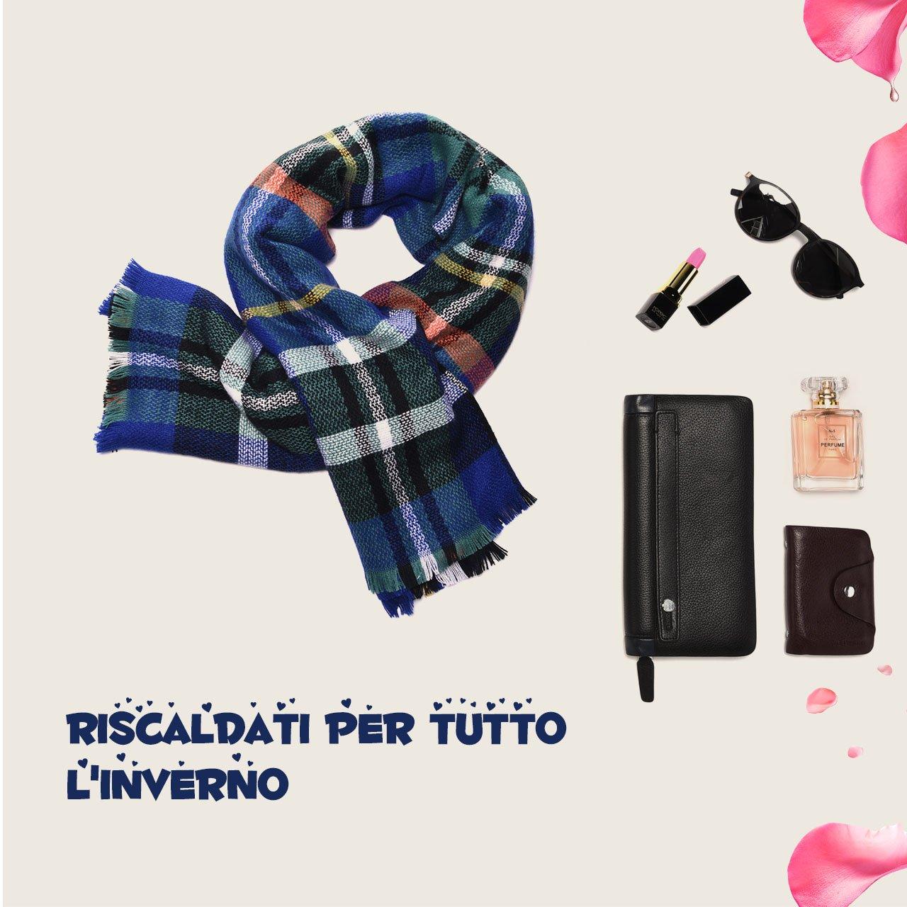 Atmoko Écharpe Châle Plaid Cachemire Hiver Automne Printemps en Tricot Laine  Coton Tissu Glands à la Mode pour Femme Fille Homme Garçon, Cadeaux de Fête  des ... b2fa713a3e9