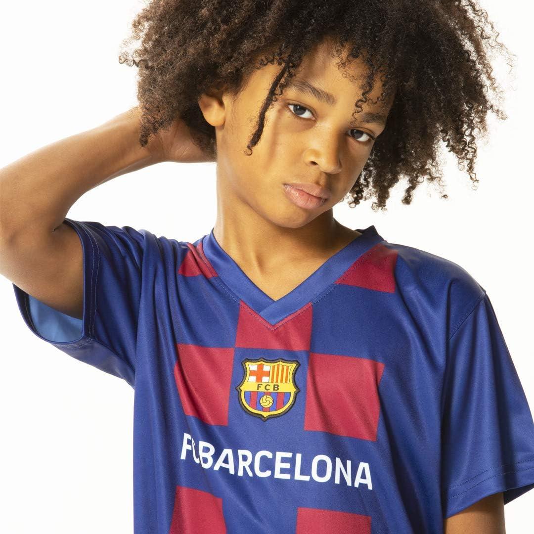 Pantaloncini Barcellona 10 Bimbo Bambino Completo Messi 2020 Barcelona Ufficiale Home 2019 2020 in Blister Maglia