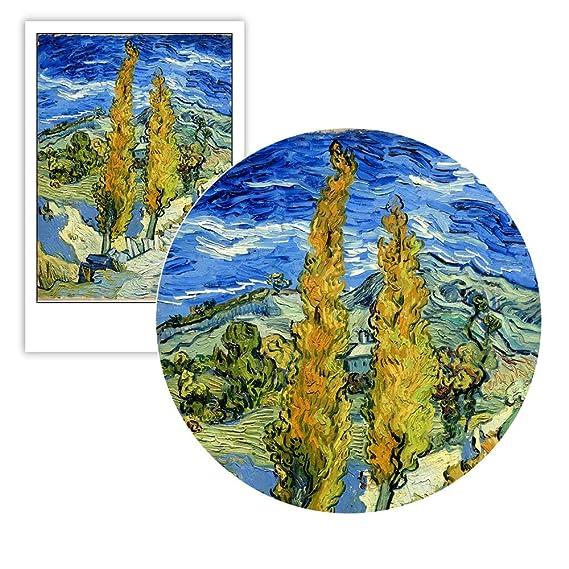 Geiqianjiumai Impresionismo ciprés Lienzo Arte de la Pared Cartel ...