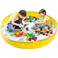 """Cacaomom Bear Activity Play Mat for Kids and Toddlers - 55"""" Diameter, Durable Mats for Floor - with Fun Activity Shapes"""