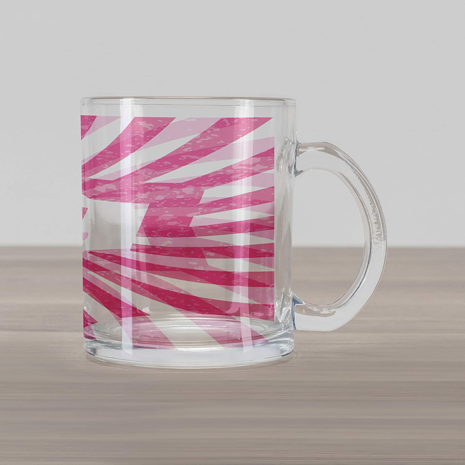7ad7d194a2d Ambesonne Susan Glass Mug, Female Name with Grunge Effect Birthday Girl  Celebration Striped Backdrop, Printed Clear Glass Coffee Mug Cup for  Beverages Water ...