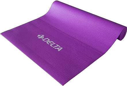 Delta Elite Dura-Strong Deluxe Pvc Pilates Minderi & Yoga Mat, Mor, 4 mm
