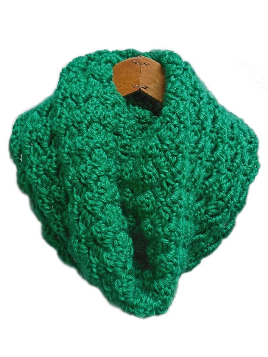 Amazon Bright Kelly Green Warm Criss Cross Cowl Scarf Crochet
