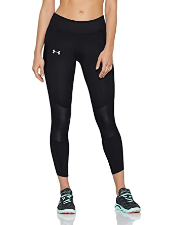 84b87dafe876d5 Under Armour Speedpocket Run Crop Women's Capri, Black / Black / Reflective  (001)