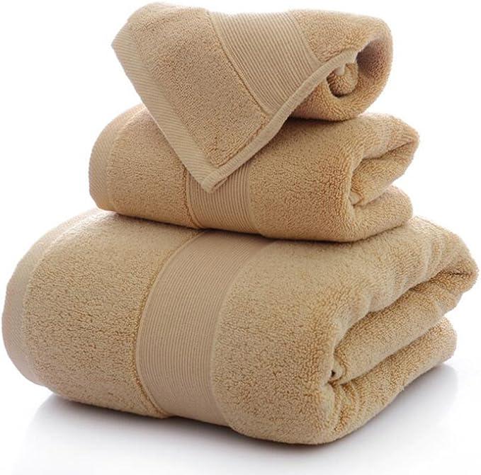 Juego de toallas de alta calidad suave 100% algodón de 3 piezas ...