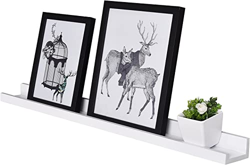 WELLAND Vista Photo Ledge Picture Display Wall Shelf Gallery 48-inch, Off White-2