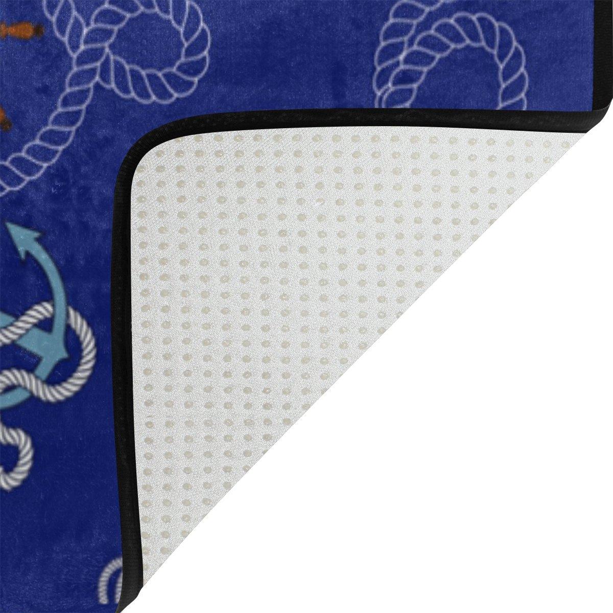 Amazon.com: lorvies azul marino estampado náutico anclajes ...