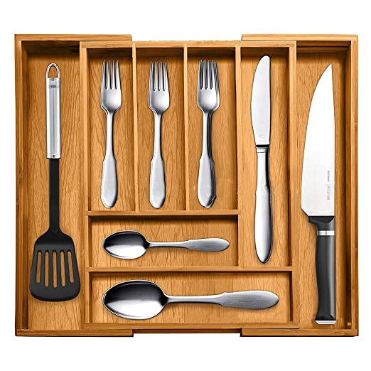 Yanhonin Organizador de cajón para la Cocina Ajustable ...