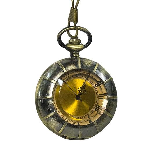 Vintage cristal Alicia en el país Drink Me botella marrón oscuro cuarzo reloj de bolsillo para las mujeres Lady chica regalo: Amazon.es: Relojes