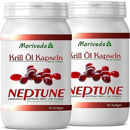 Aceite de Krill cápsulas 180, 100% puro NEPTUNE aceite de krill premium - Omega